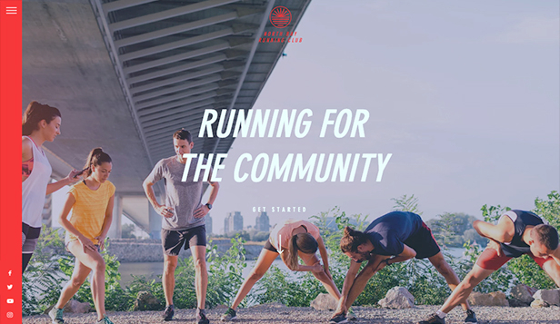 Events website templates – Running Group