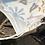 Grade School Child Organic Cotton Face Mask Blue Stars Closeup View