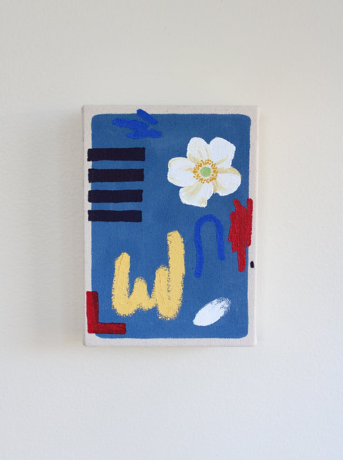Still Life With Anemone in Blue