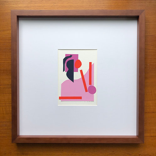 Cut-Out Collage in Wood Frame