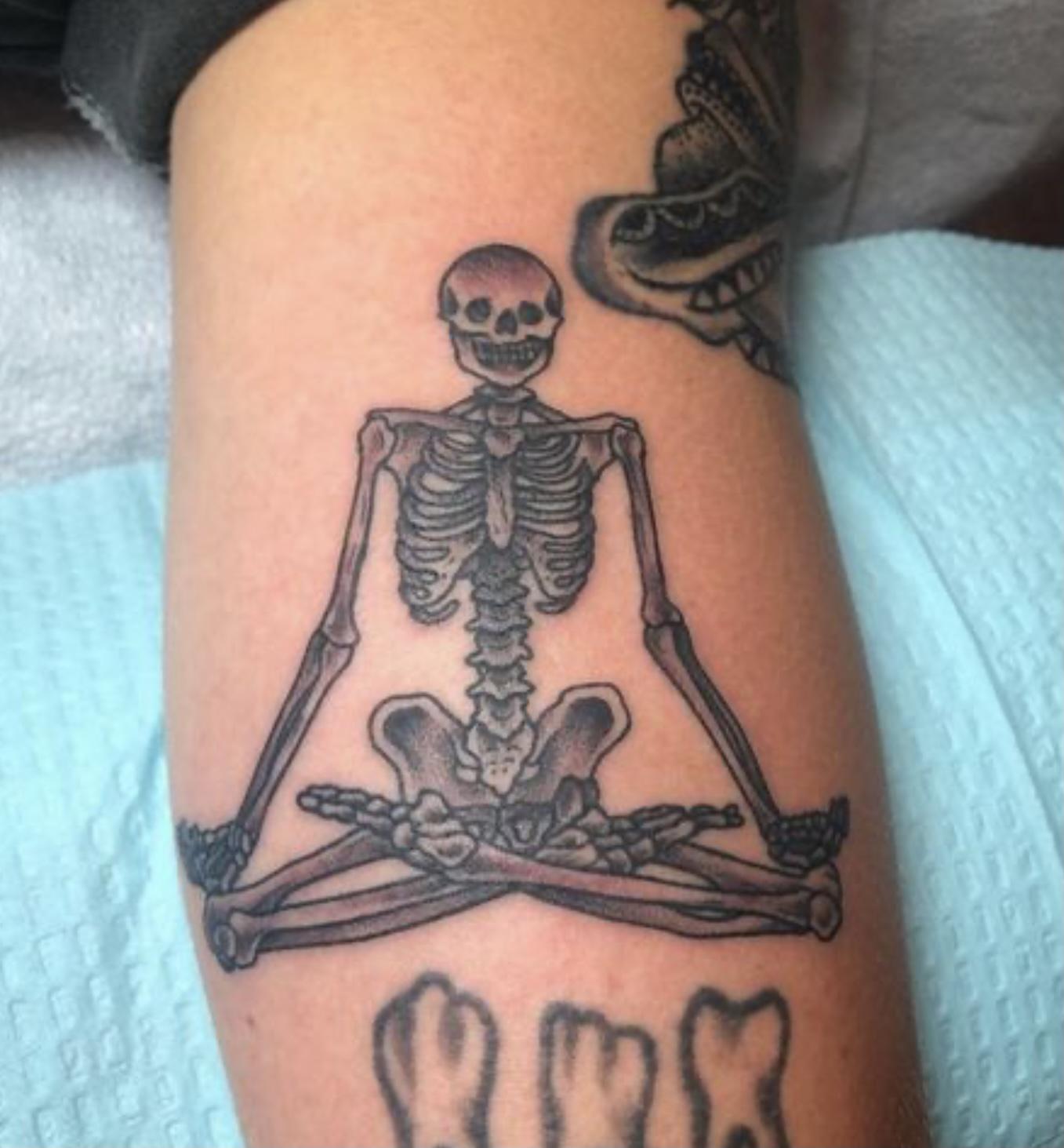 Namaste Skeleton