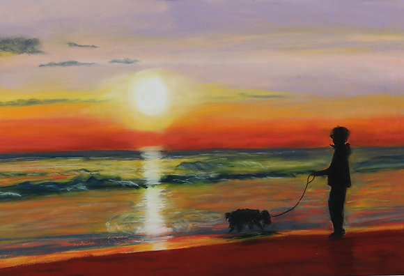 Sunset Dog Walk