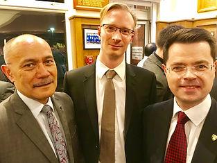 Alasdair James Dodds with Sir Jerry Mateparae and James Brokenshire MP