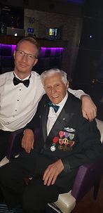 Alasdair James Dodds with World War 2 War Hero supporting veterans fund