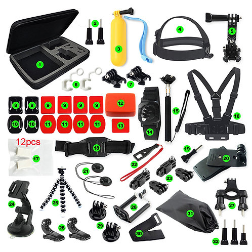 32 Piece accessories kit including carry case