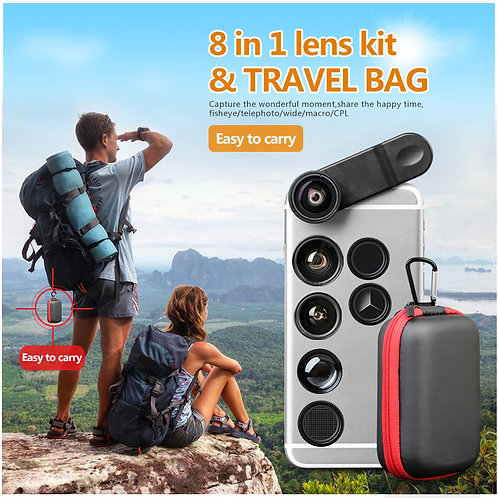 8 in 1 Smart phone and tablet lens kit