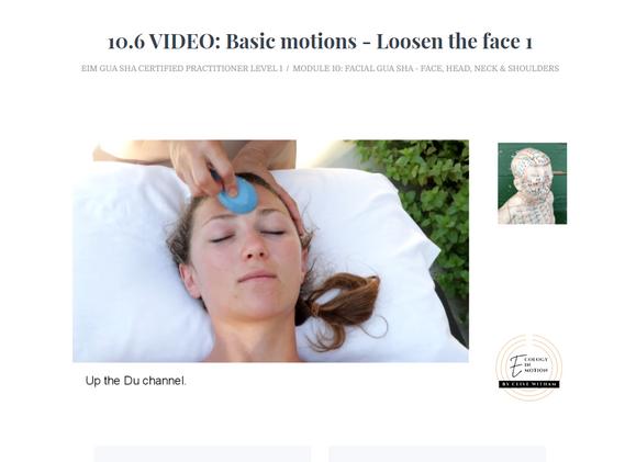Loosen the face - Facial Gua sha