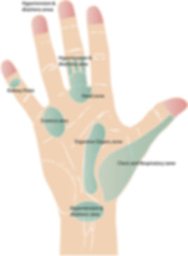 Hand acupressure points Clive Witham Guide