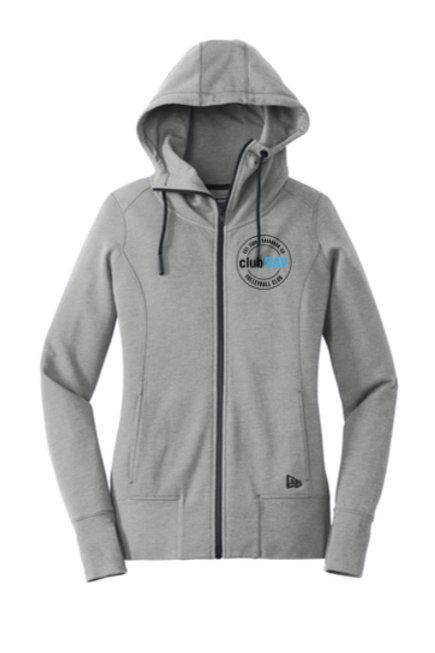 Ladies Tri-Blend Fleece Full-Zip Hoodie w/ Circle Logos