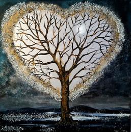 Un coeur dans la nuit 30x30