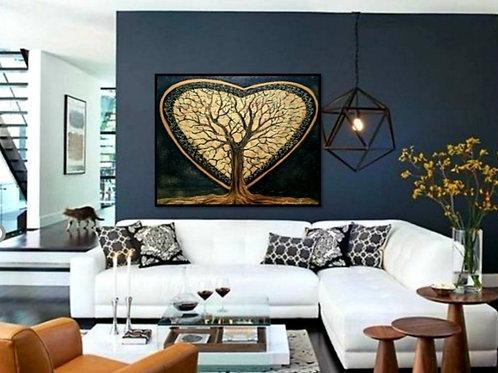 Impression sur toile -Un cœur d'or