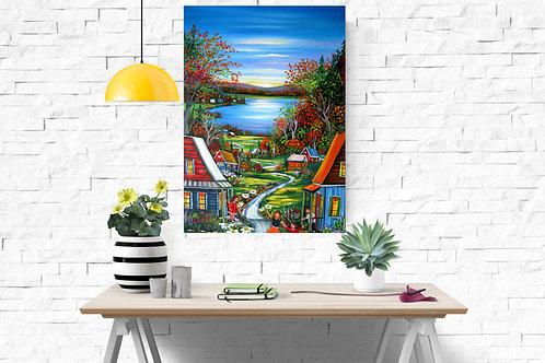 Impression sur toile - Journée en couleur