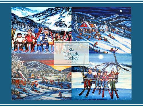 Affiche -Sport d'hiver -Multiple