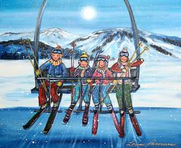 La famille en haut de la montagne 20x24.