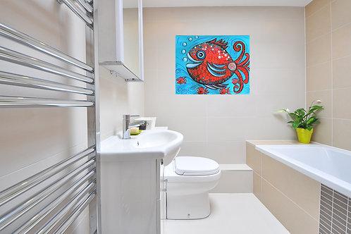 Impression sur toile - Comme un poisson dans l'eau