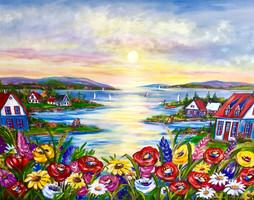 Sous un soleil fleuri 36x48