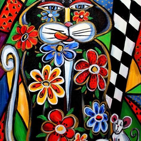 Le chaton fleuri
