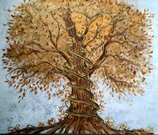 L'arbre aux milles feuilles d'or 30x36