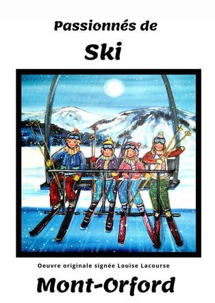 Affiche Passionnés de Ski Mont-Orford