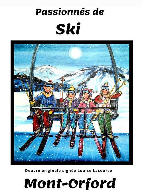 Affiche Passionnés de Ski - Mont-Orford
