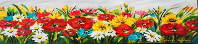 Fleurs d'été 8x30