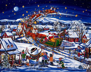 L'envolee du Père Noel
