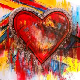 Amour givré 36x36