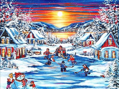 Impression sur toile -Passion d'hiver