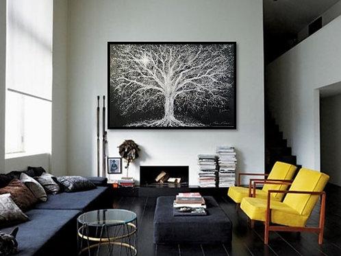 Impression sur toile -Lumière entre les branches