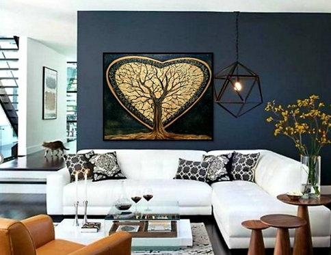 Impression sur toile- L'arbre au coeur d'or