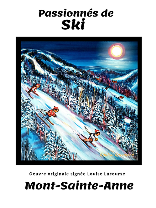 Affiche Passionnés du Ski Mont-Sainte-Anne