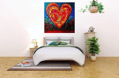 Impression sur toile - Jardin d'amour