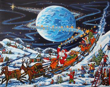 L'arrivée du père Noel