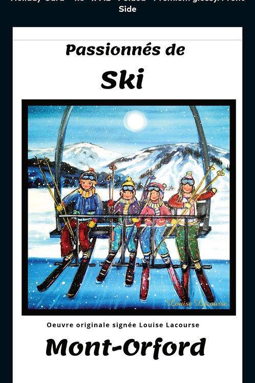 Ensemble de 5 cartes de souhaits des Passionnés de Ski
