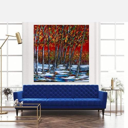 Impression sur toile -Sentier coloré