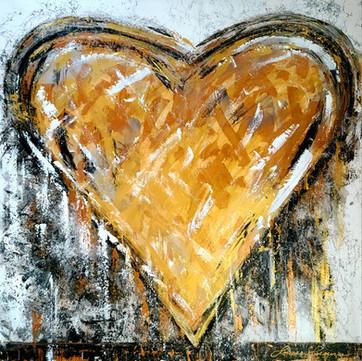 Un coeur d'or 36x36