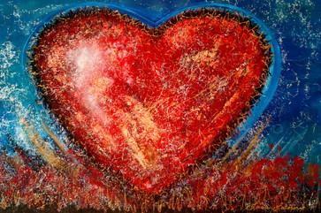 Le cœur de l'amour 24x36