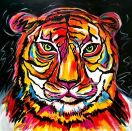 30x30 Le tigre.