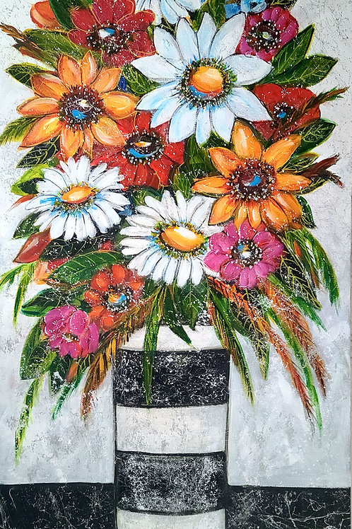 Bouquet multicolore 40x20