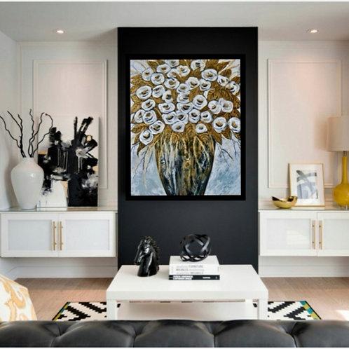 Impression sur toile -Bouquet d'amour
