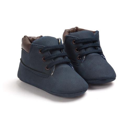 chaussures de sport b5954 e0a29 Bottillons pré marche bébé en cuir PU bleu foncé