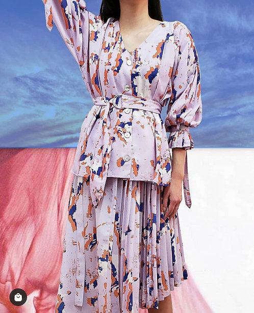 Unity print asymmetrical skirt- Takeda