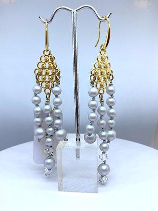 Aretes Perla colgantes - ETHEREA