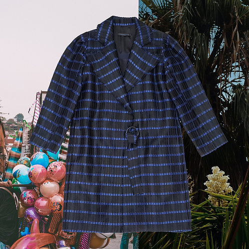 Metallic Check Ringed Coat – ARMANDO TAKEDA