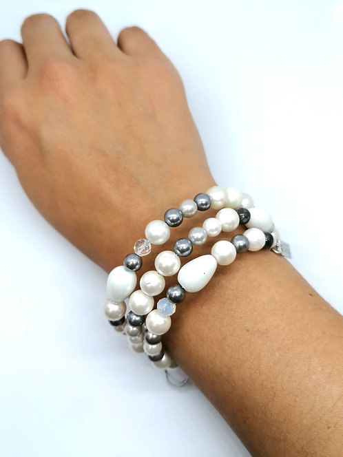 Pulsera ajustable perlas - ETHEREA