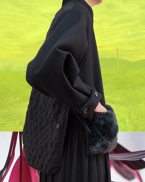 Melton eco-fur blouson jacket - Takeda