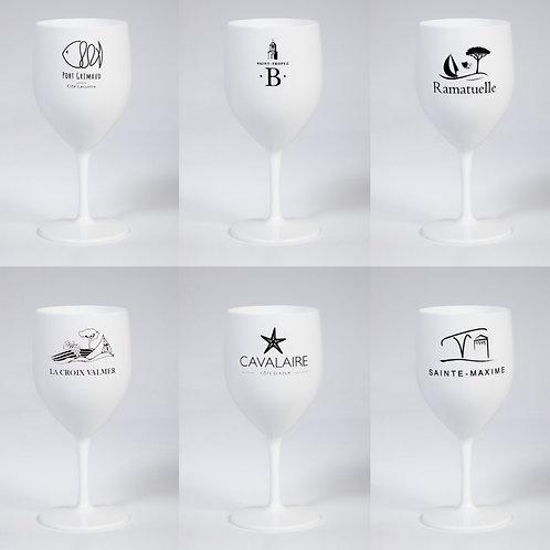 Lot de 6 verres villages