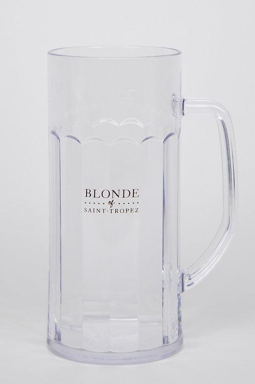Chope à bière transparente   Blonde of Saint-Tropez