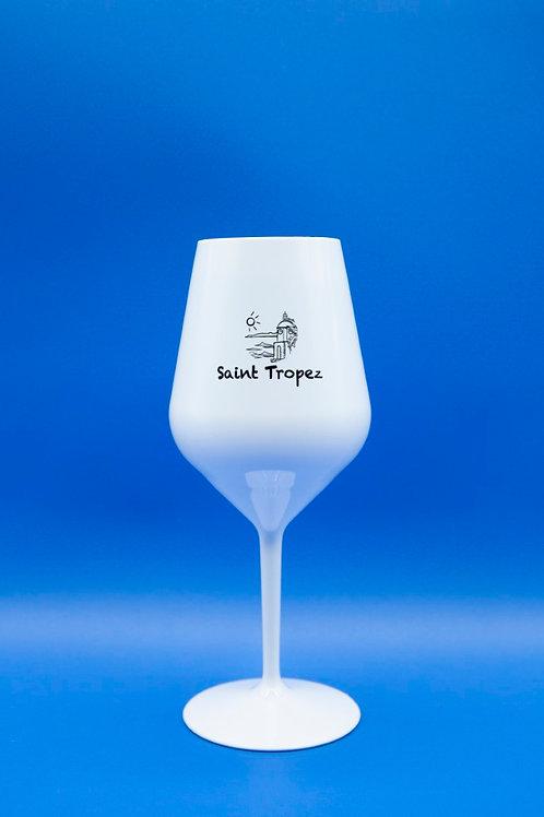 Verre à Vin BK Blanc Logo Saint Tropez