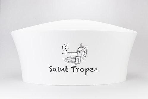 Vasque  Vela 7L Blanche ou Transparente Logo Saint Tropez